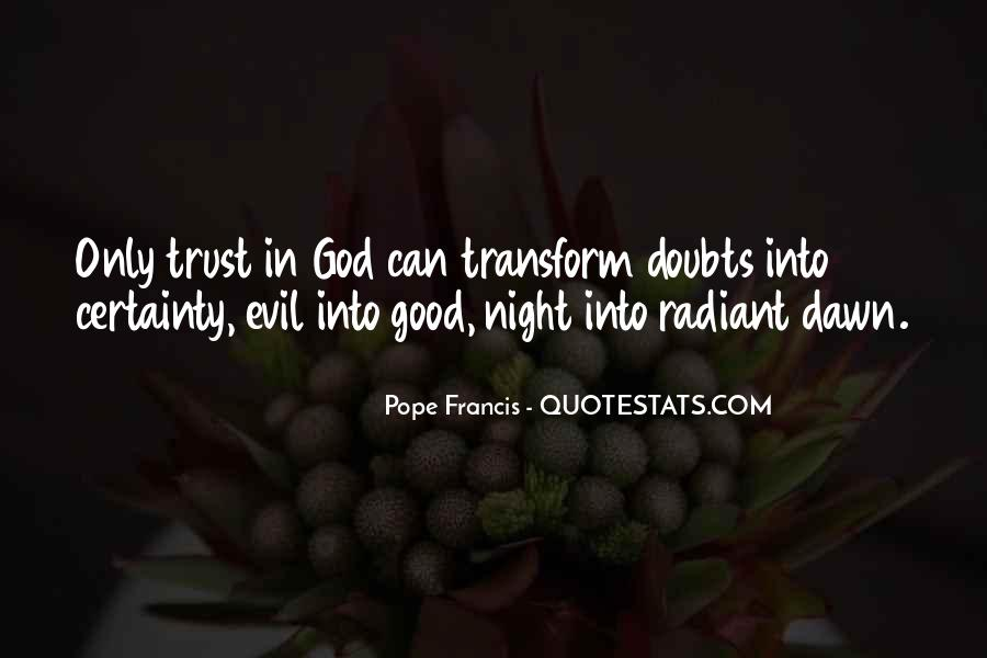 Doubt In Trust Quotes #1473712