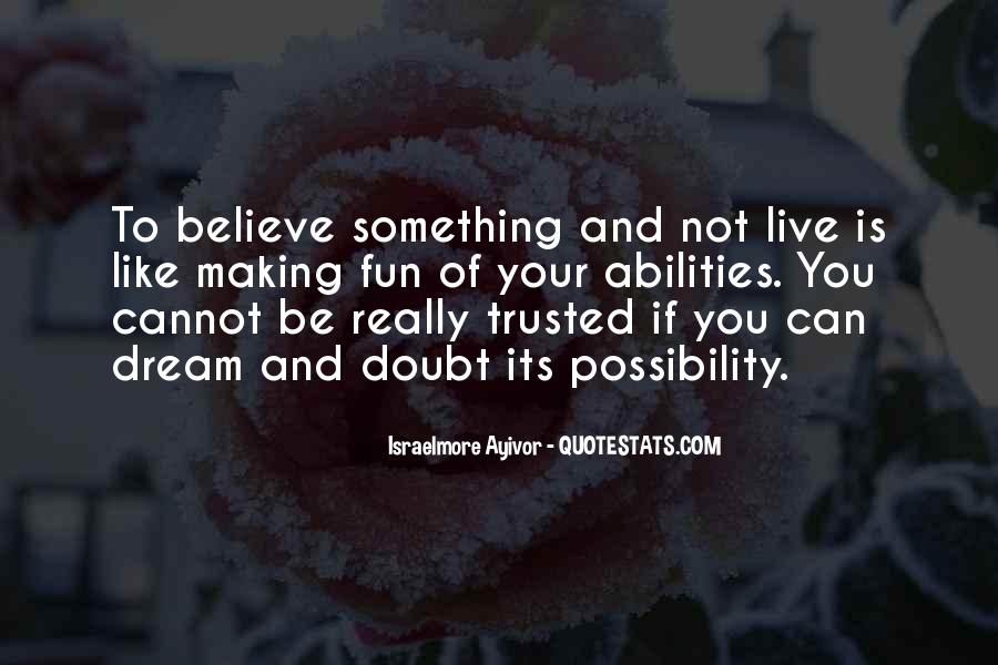 Doubt In Trust Quotes #1826114