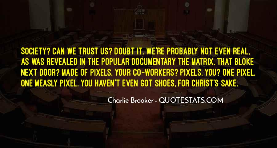 Doubt In Trust Quotes #1870231