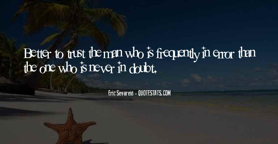 Doubt In Trust Quotes #200998
