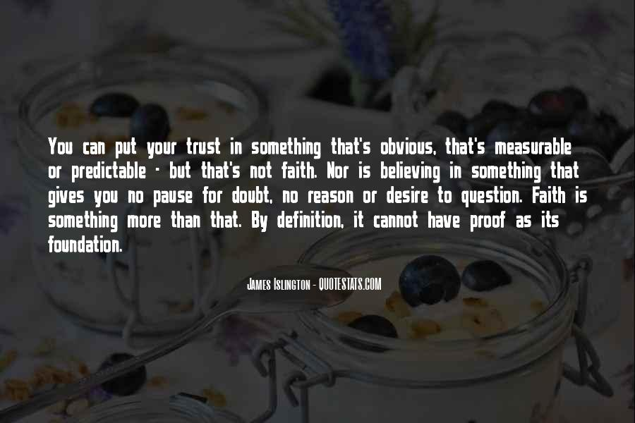 Doubt In Trust Quotes #431166