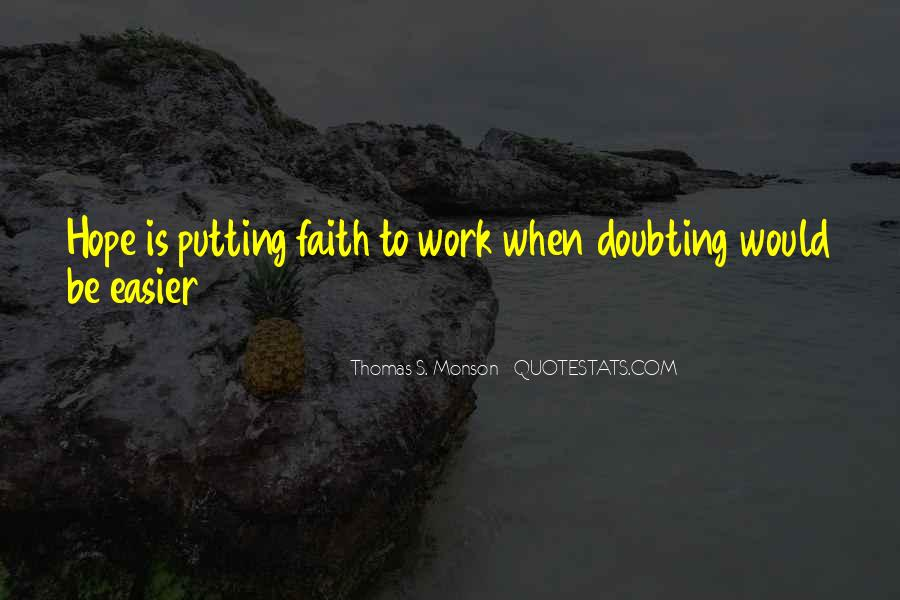 Doubting Us Quotes #111402
