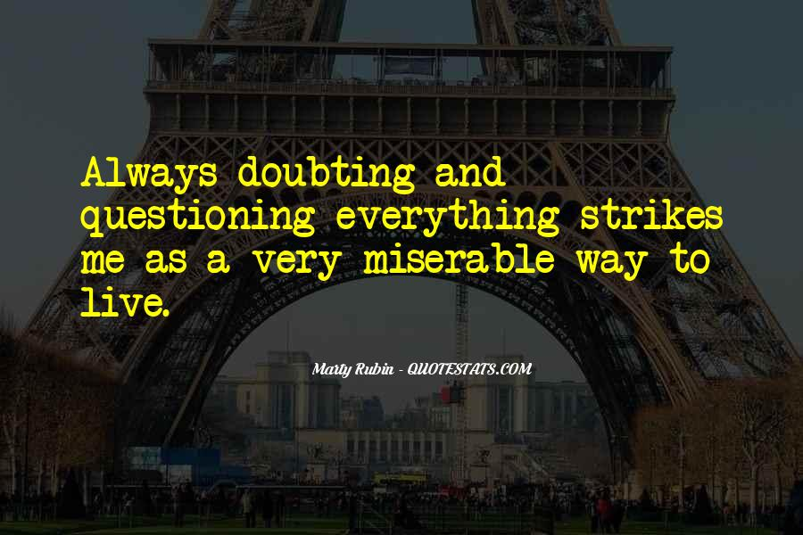 Doubting Us Quotes #179036