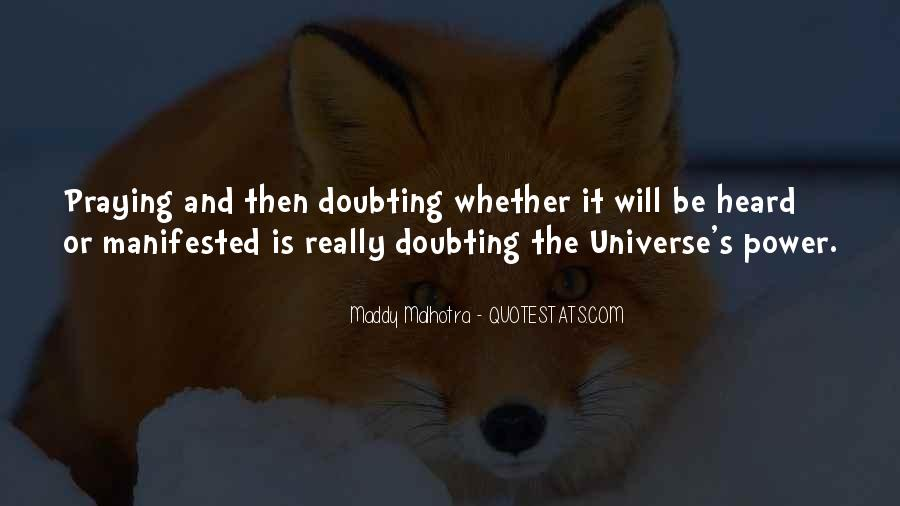 Doubting Us Quotes #288563