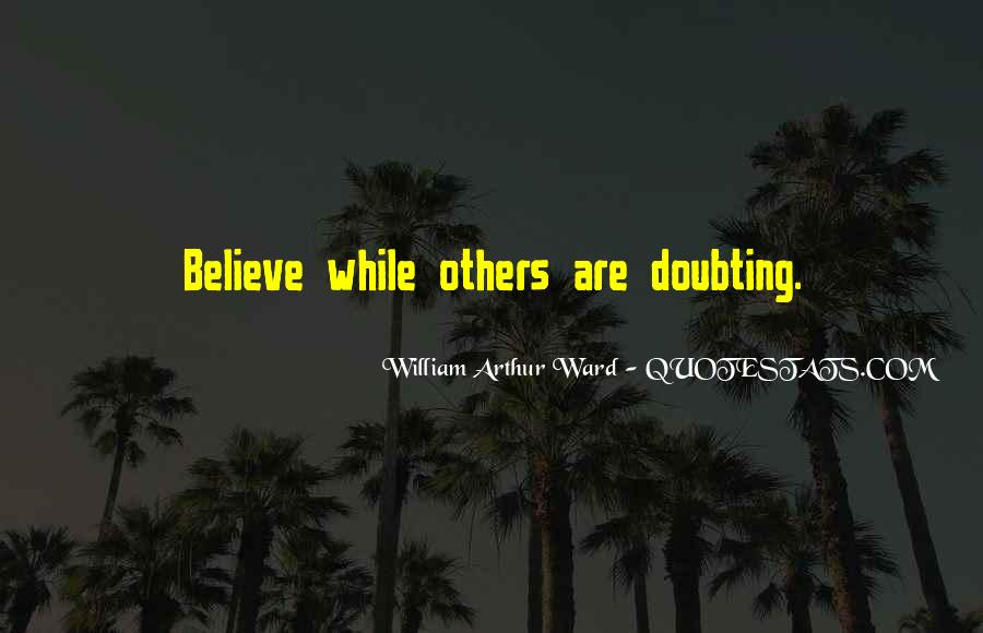 Doubting Us Quotes #30852