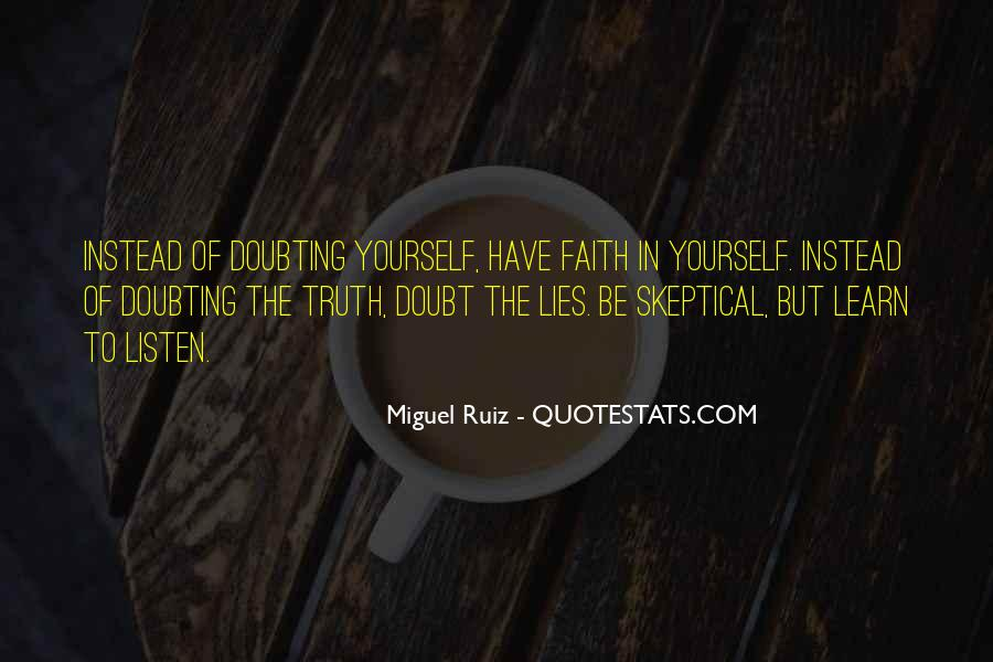 Doubting Us Quotes #74398