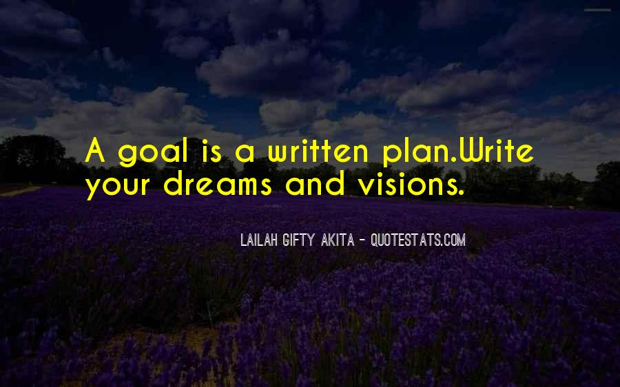Dreams And Goals Inspirational Quotes #783591
