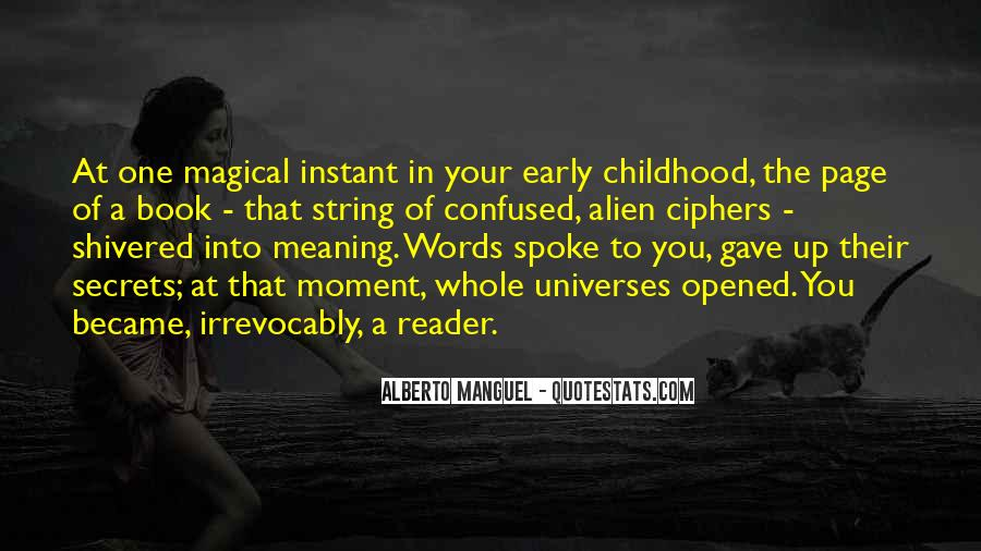 Early Childhood Reading Quotes #1845546
