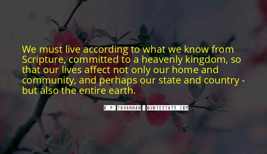 Earth Our Home Quotes #725710