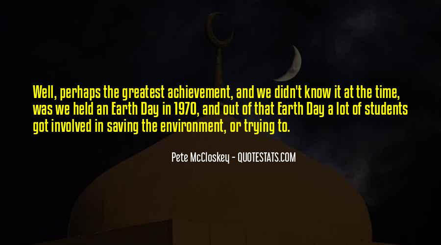 Earth Saving Quotes #1848023