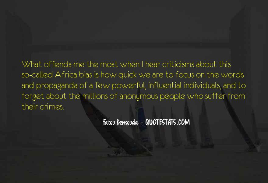 Quotes About Influential People #226080