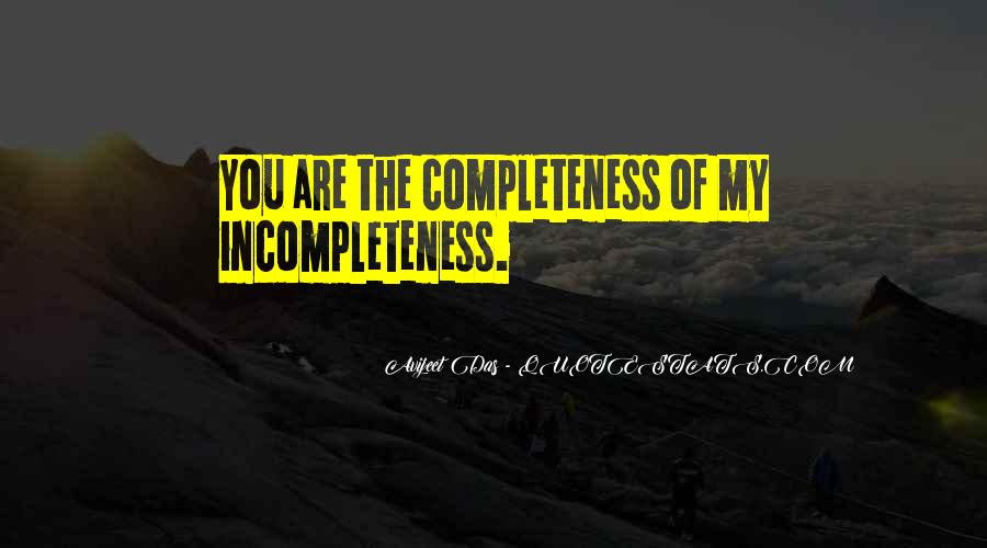 Quotes About Incompleteness #488048