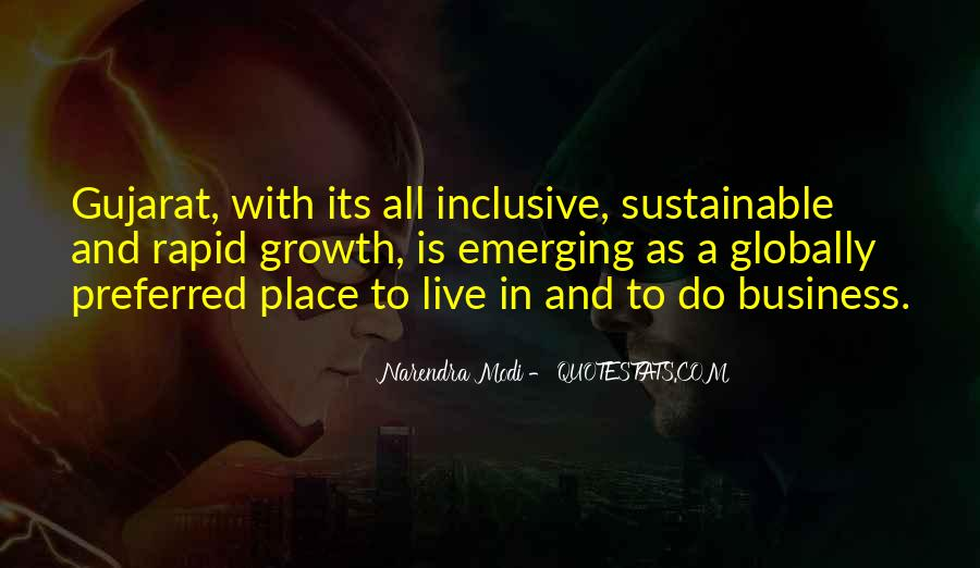 Quotes About Inclusive Growth #623521
