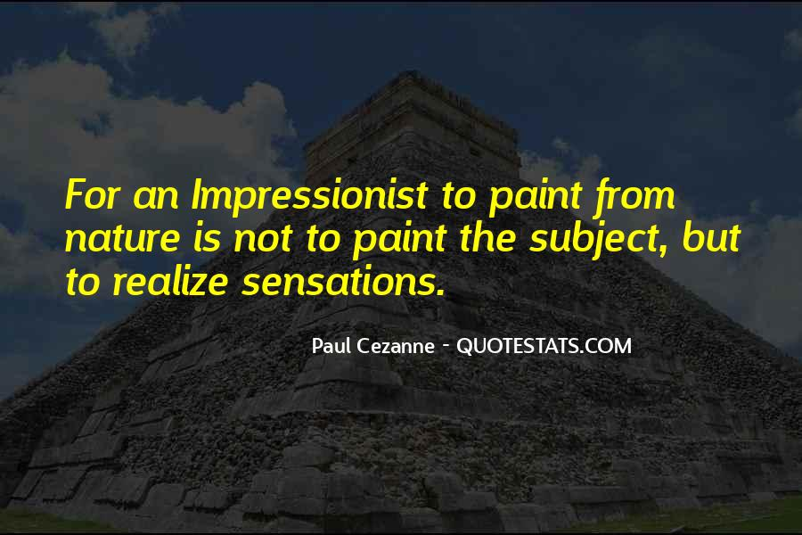 Quotes About Impressionist #917945