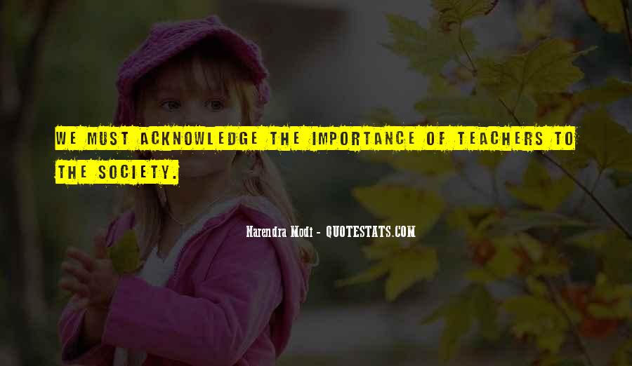 Quotes About Importance Of Teachers #71614