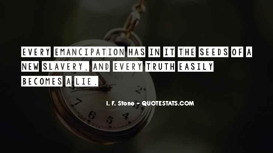 Emancipation Of Slavery Quotes #1151920