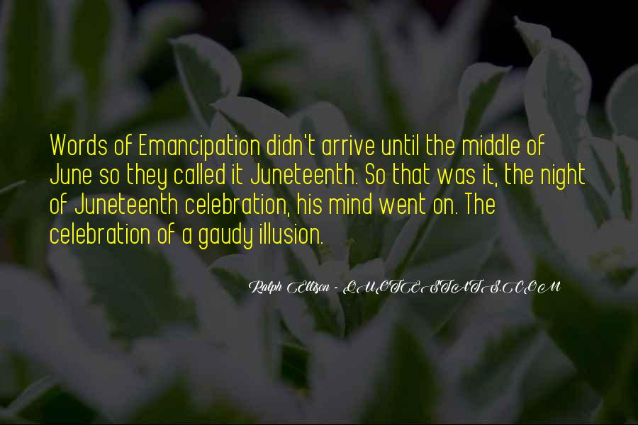 Emancipation Of Slavery Quotes #815265