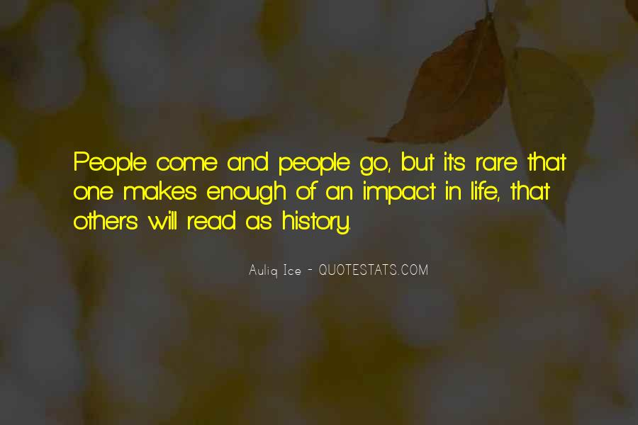 Quotes About Impact Of Others #241263