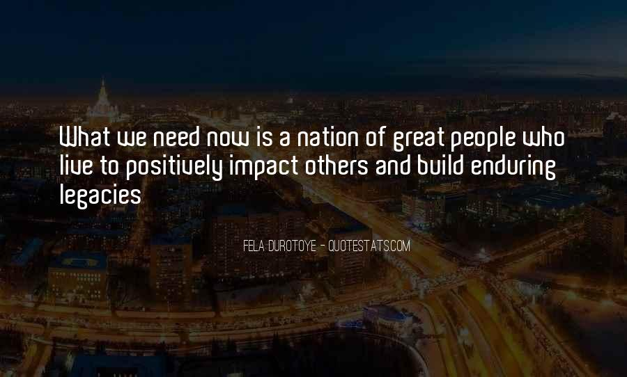 Quotes About Impact Of Others #501540
