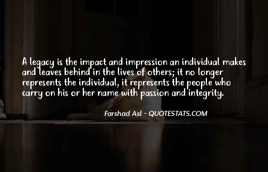 Quotes About Impact Of Others #514398