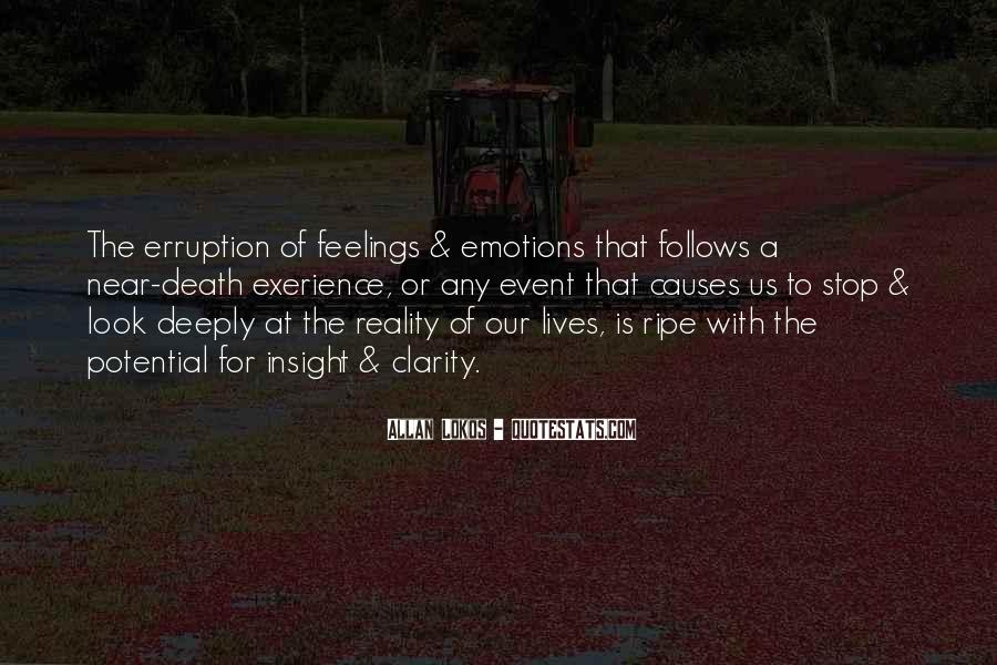 Emotions And Reality Quotes #175300