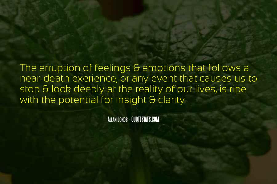 Emotions And Reality Quotes #628237