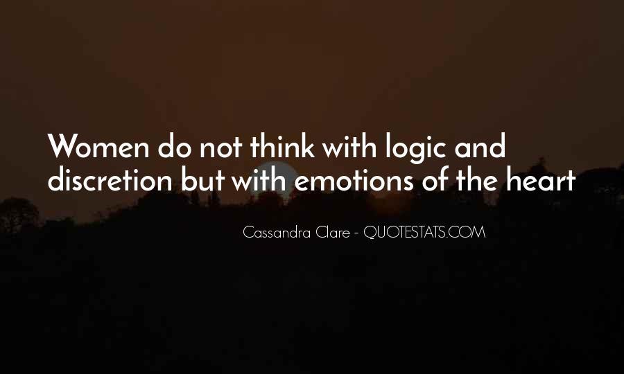 Emotions Versus Logic Quotes #113343
