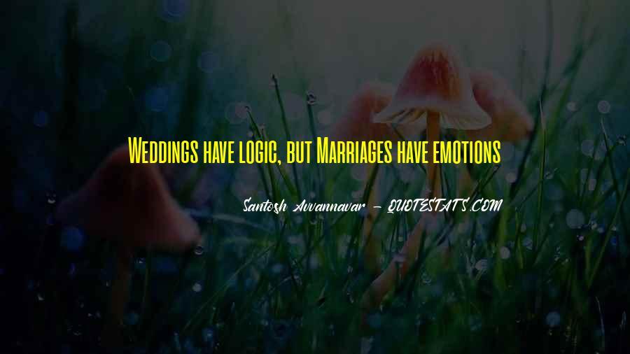 Emotions Versus Logic Quotes #1244072