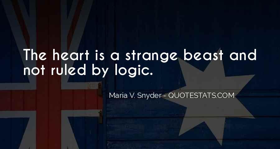 Emotions Versus Logic Quotes #499381