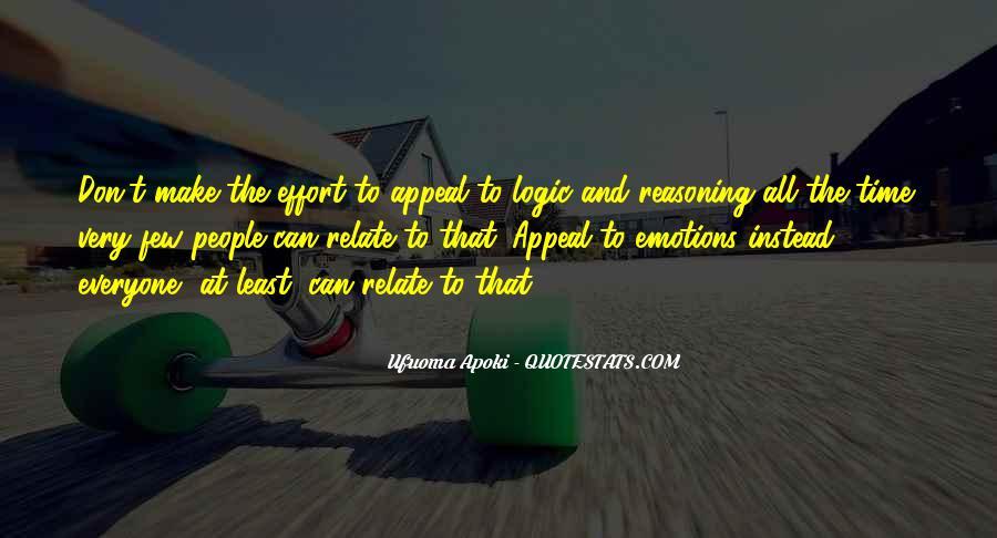 Emotions Versus Logic Quotes #971798
