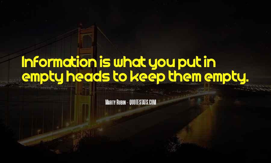 Empty Heads Quotes #1041559