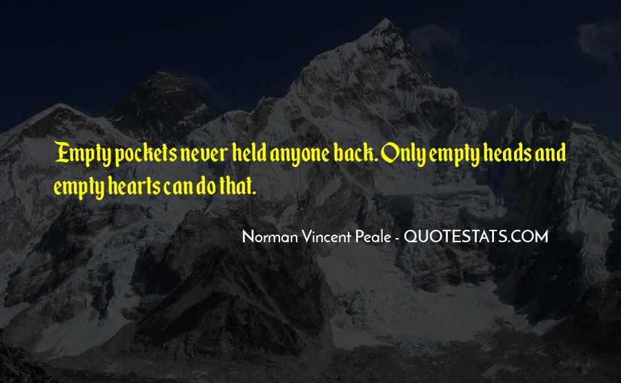 Empty Heads Quotes #1165429