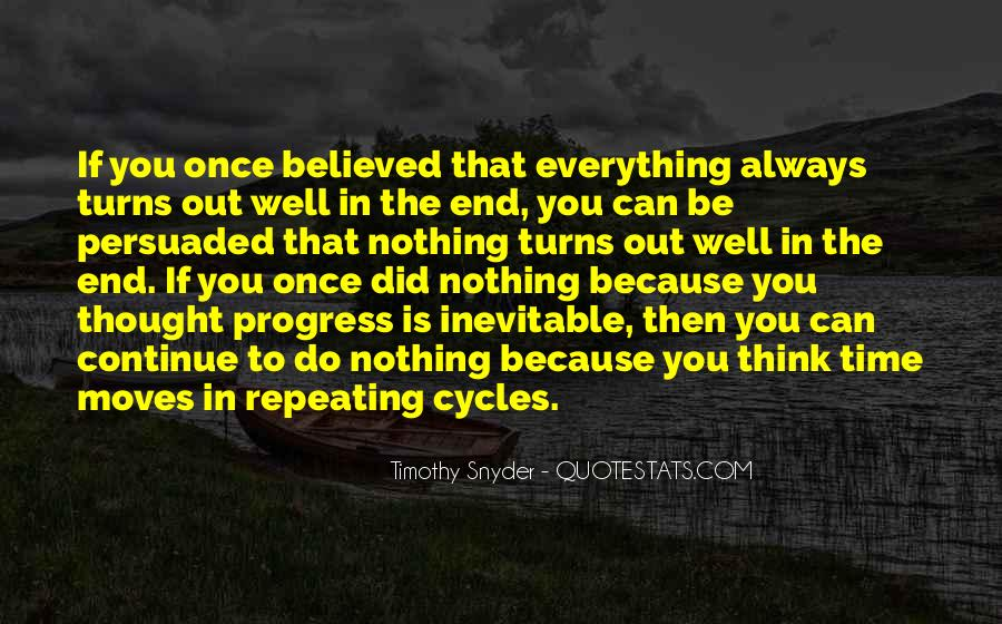 End Is Inevitable Quotes #1157651