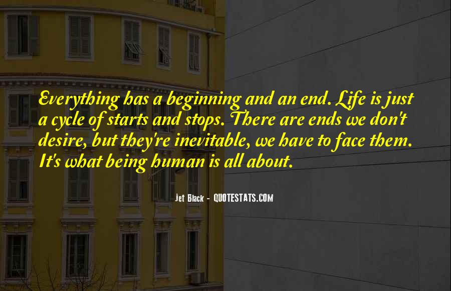 End Is Inevitable Quotes #1274573