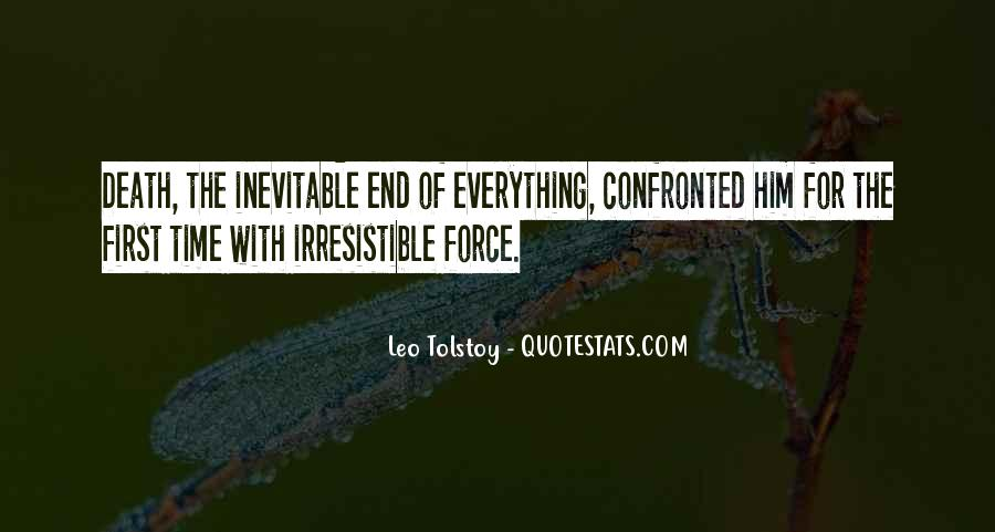 End Is Inevitable Quotes #1535472