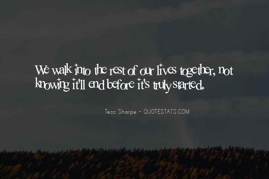 End Of Our Love Quotes #1768544