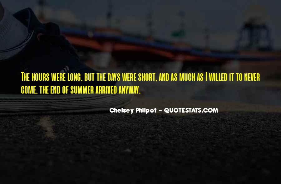 End Of Summertime Quotes #137742