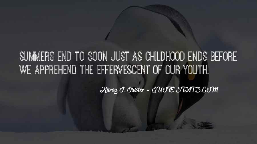 End Of Summertime Quotes #150475