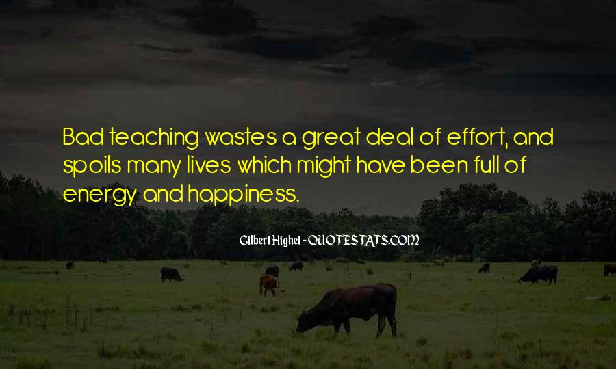 Energy And Effort Quotes #1059129
