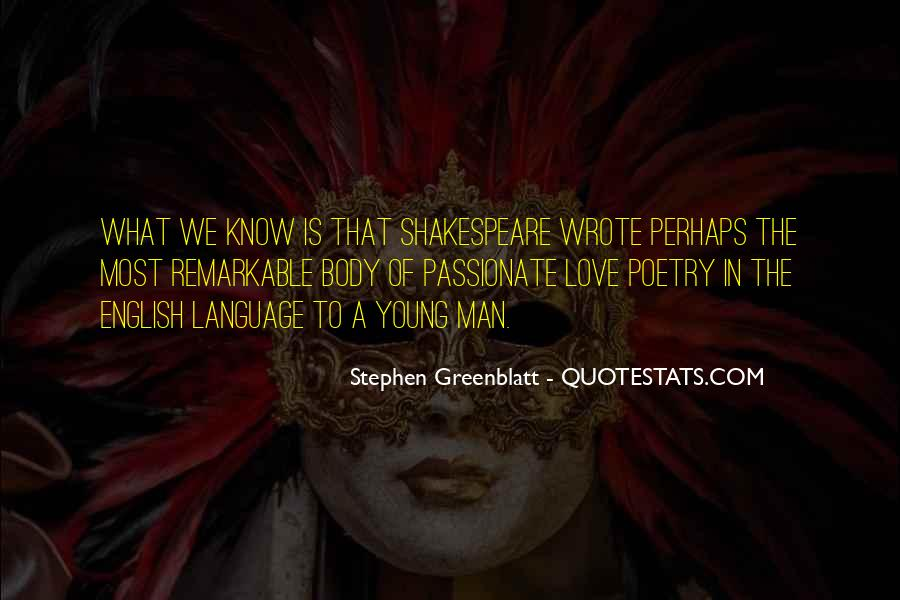 English Love Poetry Quotes #556879