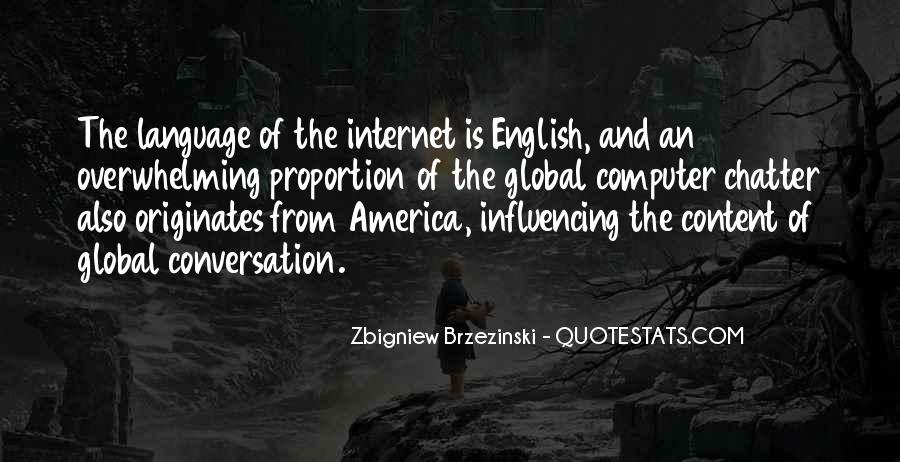 English The Global Language Quotes #1185881