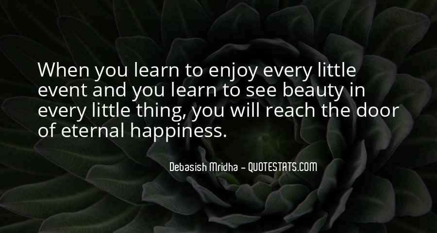 Enjoy Little Thing Quotes #1373817