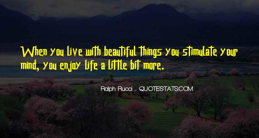 Enjoy Little Thing Quotes #67472