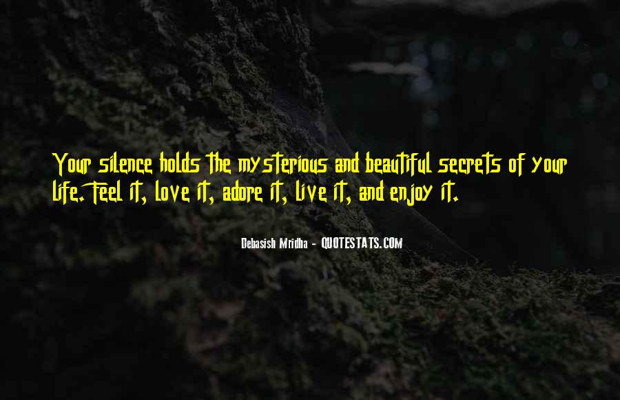 Enjoy The Silence Quotes #1103849