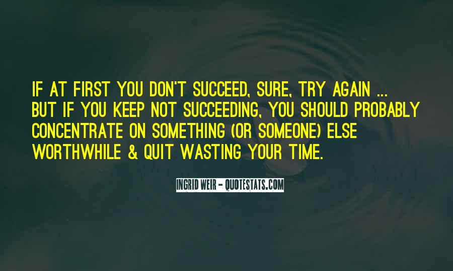 Quotes About If At First You Don Succeed #4083
