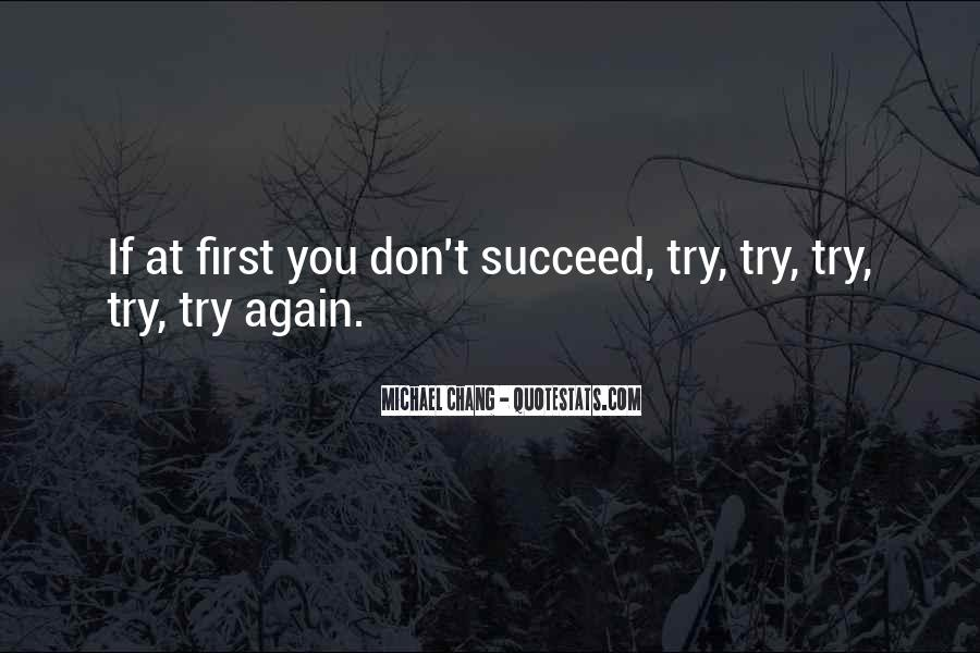 Quotes About If At First You Don Succeed #451686