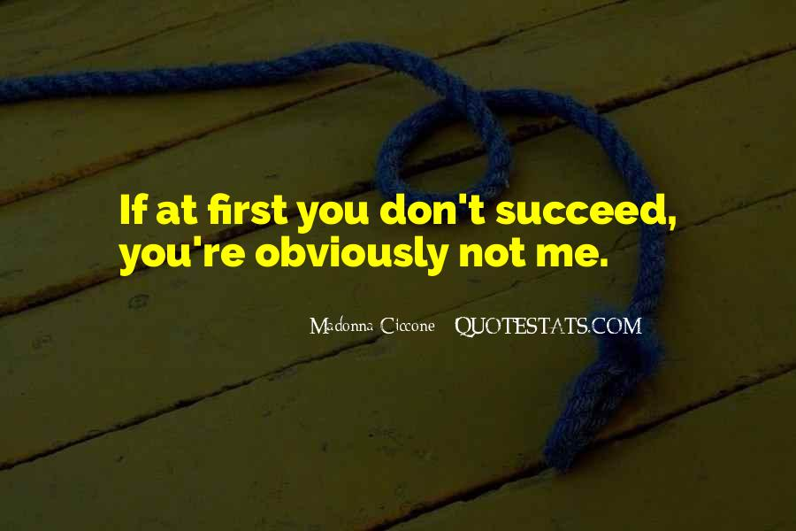 Quotes About If At First You Don Succeed #91453