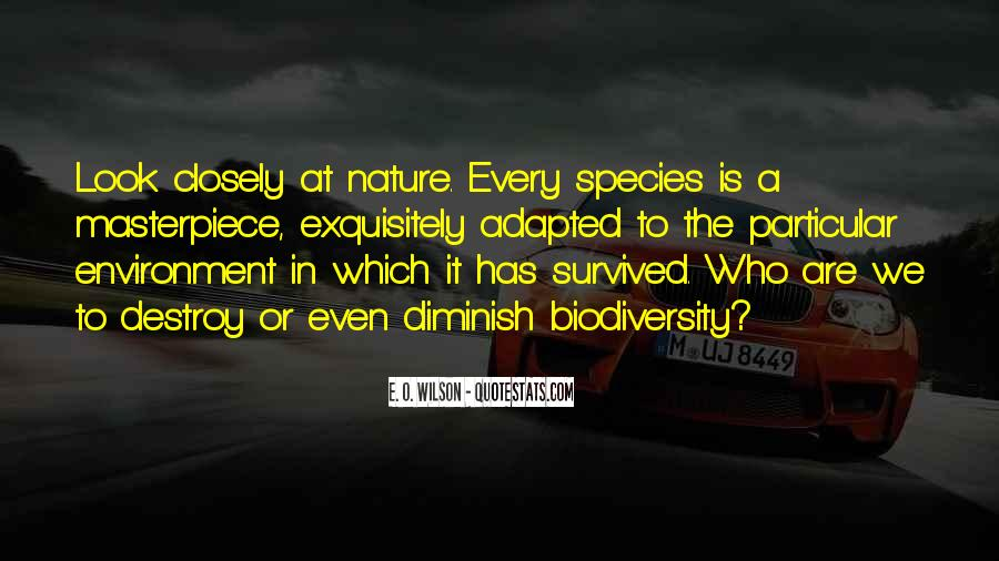 Environment And Biodiversity Quotes #1335517