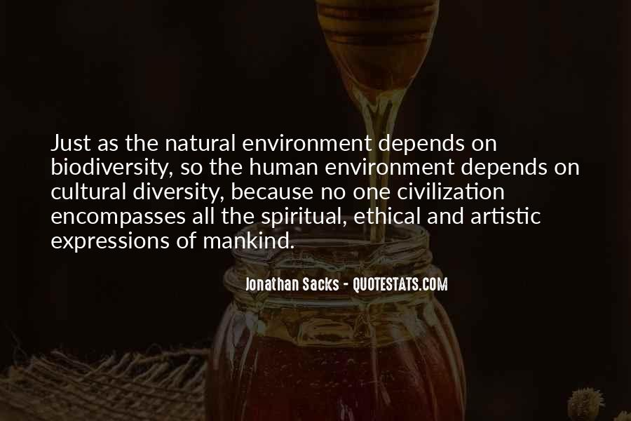 Environment And Biodiversity Quotes #168946
