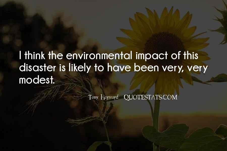 Environmental Impact Quotes #1059154